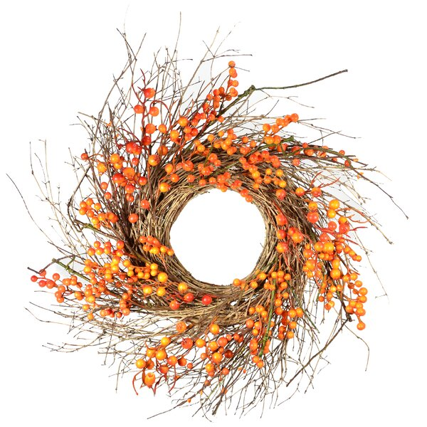 Fall Wild Berry 25 Wreath by August Grove