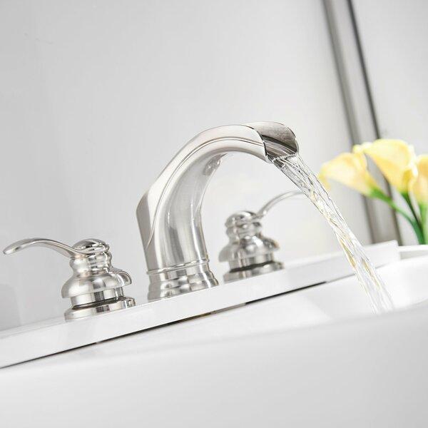 Waterfall 3 Hole 2 Handle Widespread Bathroom Faucet