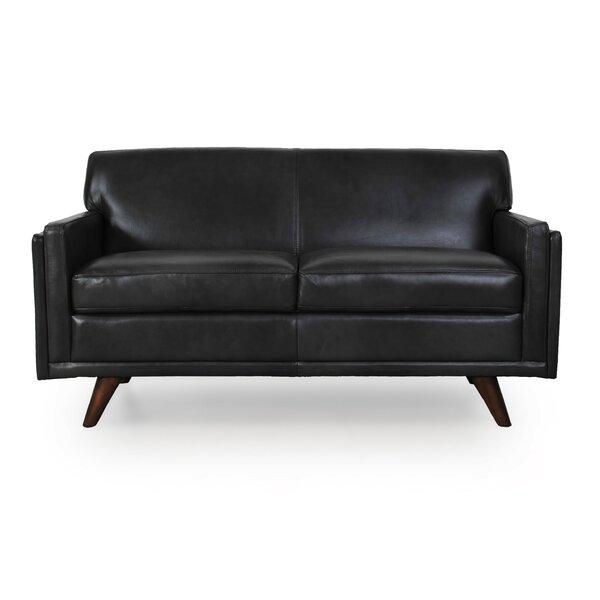 Ari Genuine Leather Loveseat by Corrigan Studio