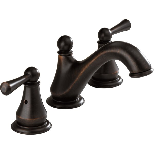 Lewiston Widespread Bathroom Faucet with Drain Assembly by Delta