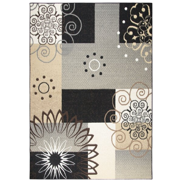 Chandler Gray/Gold/Black Area Rug by Winston Porter