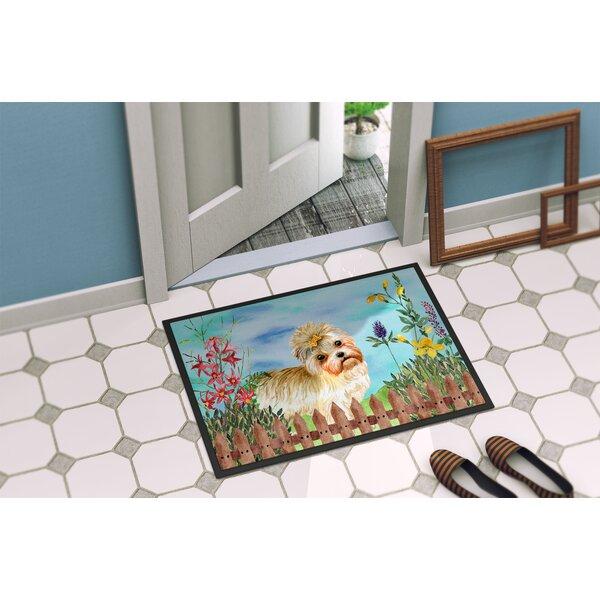 Morkie Spring Non-Slip Outdoor Door Mat