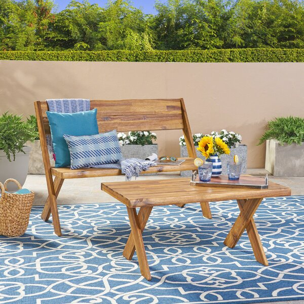 Eltingville 2 piece Outdoor Conversation Sets by Millwood Pines