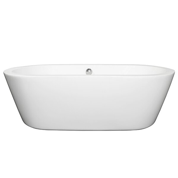 Mermaid 71 x 34 Freestanding Soaking Bathtub by Wyndham Collection