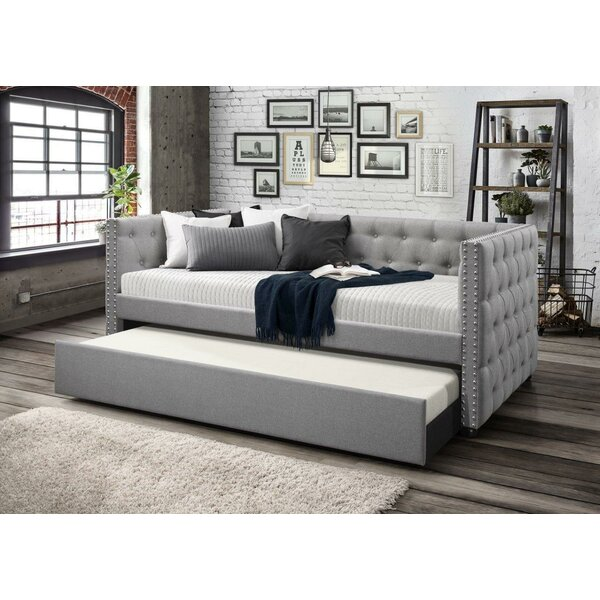 Dangelo Upholstered Daybed with Trundle by Charlto