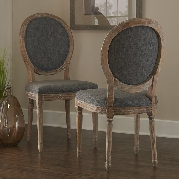 #2 Renne Upholstered Dining Chair (Set Of 2) By Lark Manor Herry Up