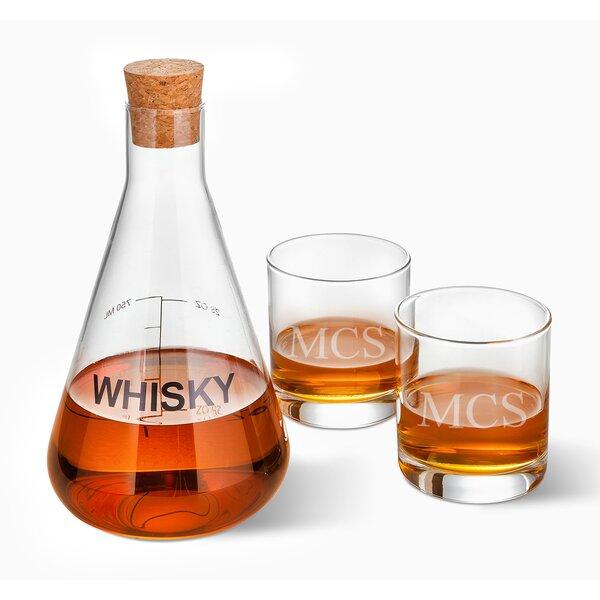 Welborn Personalized Whiskey 3 Piece Beverage Serving Set by Latitude Run