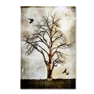 'Cottonwood Tree Part 02' Graphic Art Print on Wrapped Canvas by Winston Porter