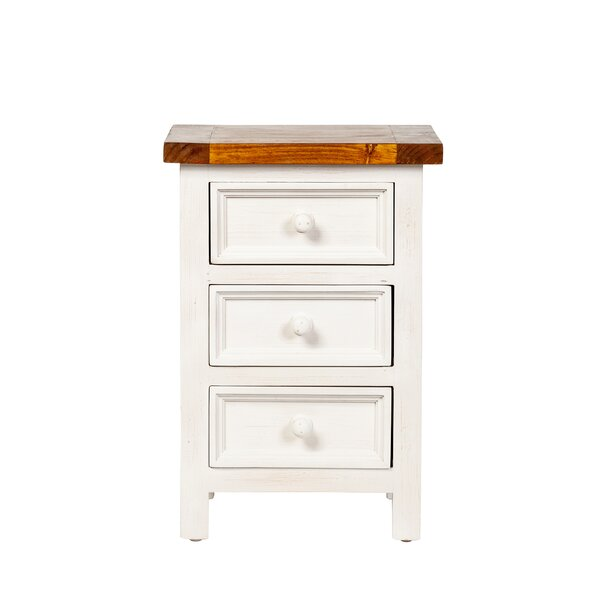 Micky 3 Drawer Nightstand by August Grove