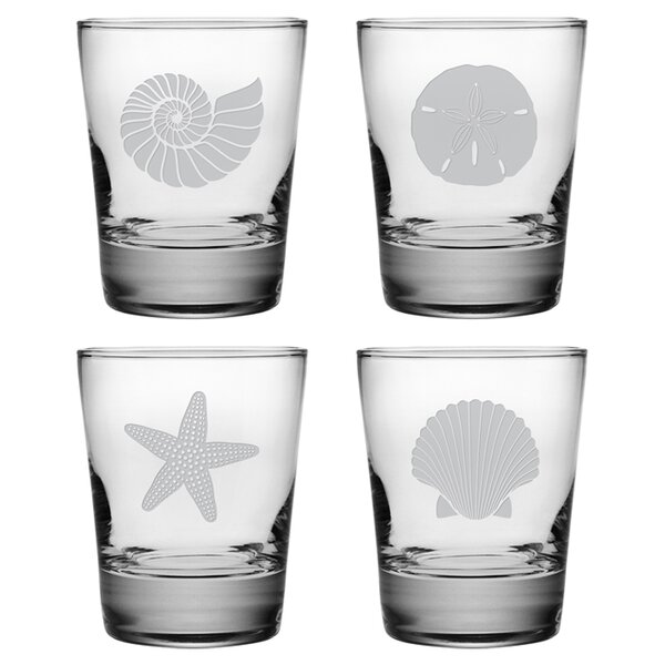 Seashore Double Old Fashioned Glass Set by Susquehanna Glass