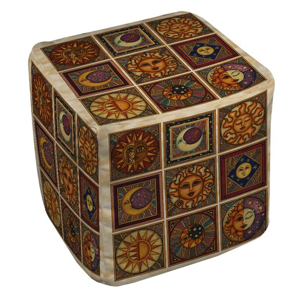 Celestial Squares Pouf by Manual Woodworkers & Weavers