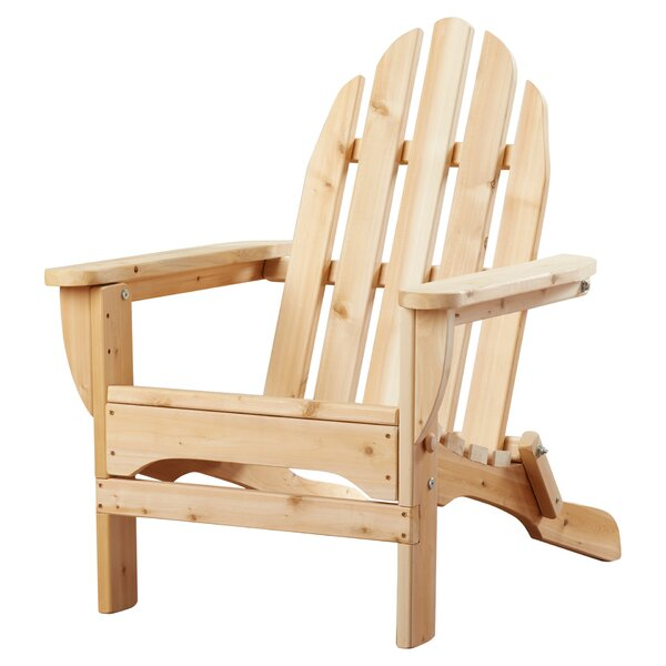 Adirondack Wood Folding Adirondack Chair by Rustic Natural Cedar Furniture