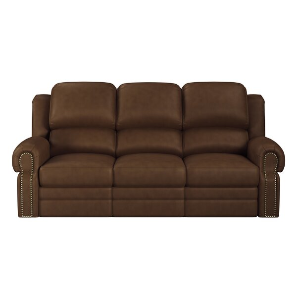 Home & Outdoor Hilltop Leather Reclining Sofa