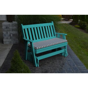 Traditional English Gliding Bench by A&L Furniture