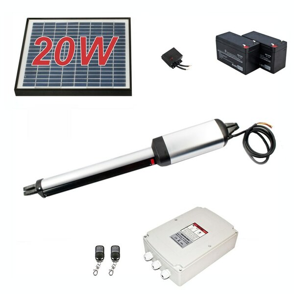 Single Swing Gate Operator 20W Solar Kit by ALEKO