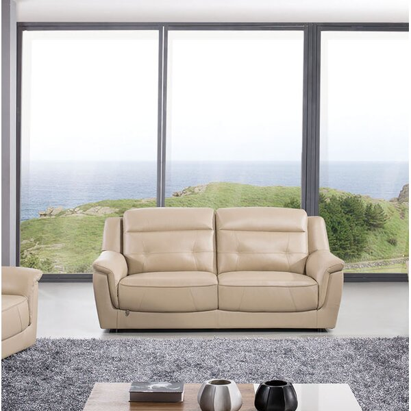Ugalde Leather Sofa by Latitude Run