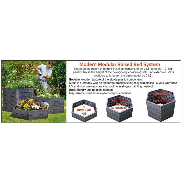Ehrhart Modular Raised Plastic Planter Box by Ebern Designs