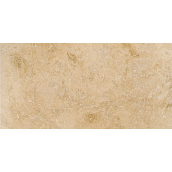Travertine 12 x 24 Filled and Honed Field Tile in Beige by Emser Tile