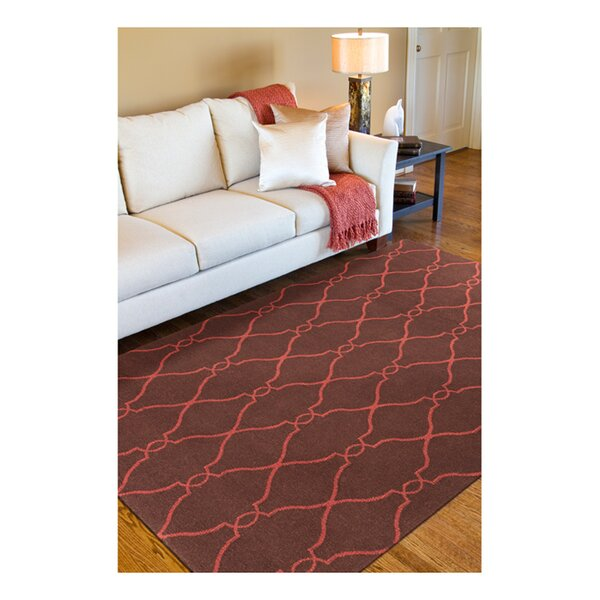 Provincial Brown/Rust Area Rug by Charlton Home