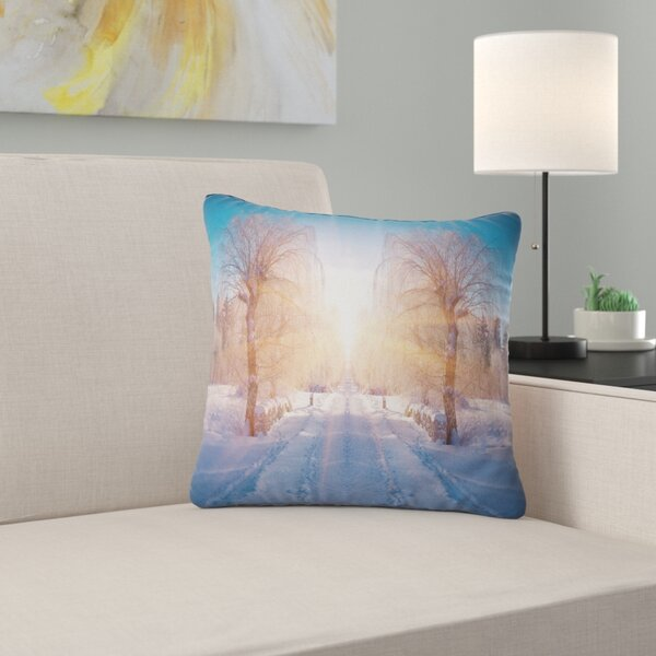 Landscape Winter Pillow by East Urban Home