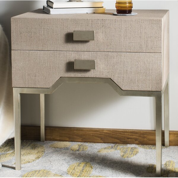 Rollins 2 Drawer Nightstand by Everly Quinn