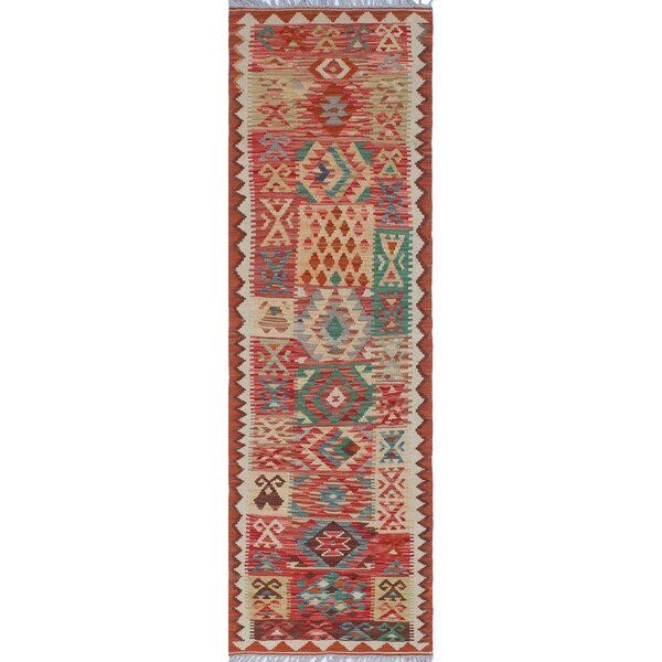 One-of-a-Kind Applewhite Hand-Woven Wool Beige/Red Area Rug by Isabelline