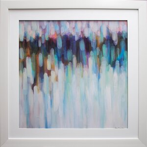 'Aurora Lights' by Karen Lorena Parker Framed Acrylic Painting Print by Star Creations