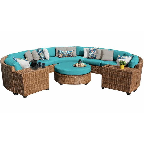 Waterbury 7 Piece Rattan Sectional Set with Cushions by Sol 72 Outdoor