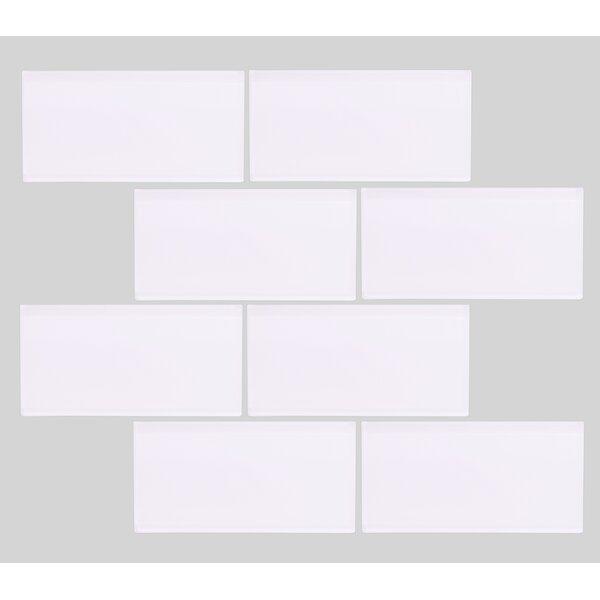Valencia 3 X 6 Super White Glass Subway Tile by Vetromani
