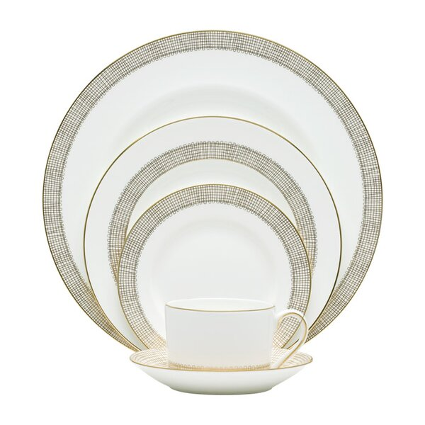Gilded Weave Bone China 5 Piece Place Setting, Service for 1 by Vera Wang