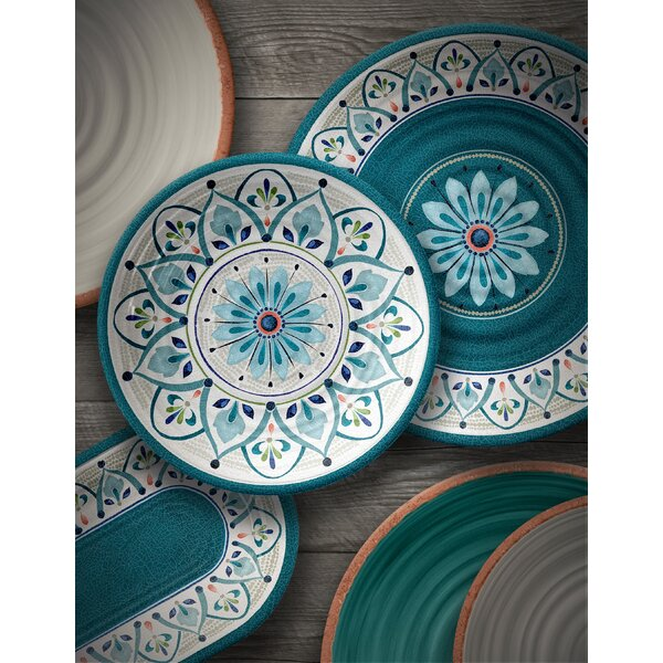 Moroccan Medallion Melamine 12 Piece Dinnerware Set, Service for 4 by TarHong