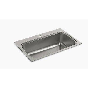 Verse 33 x 22 Top Mount Single Bowl Kitchen Sink