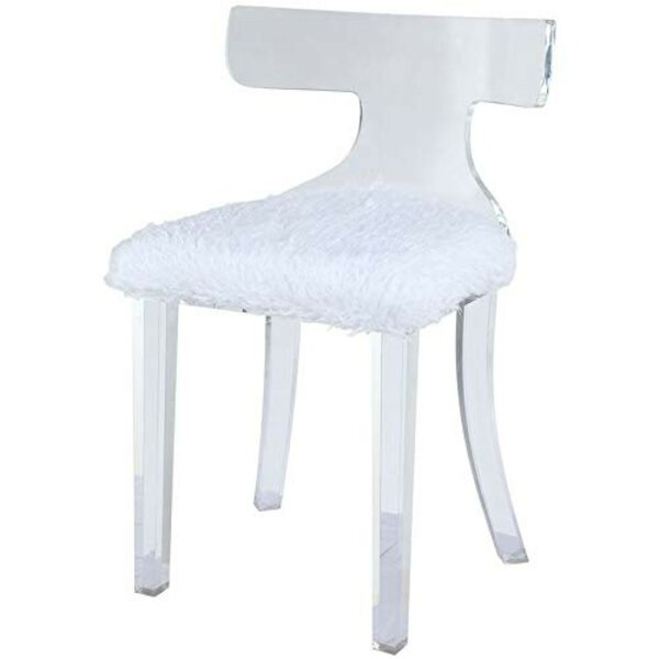 Kizzie Acrylic Mid Backrest Side Chair by Everly Quinn Everly Quinn