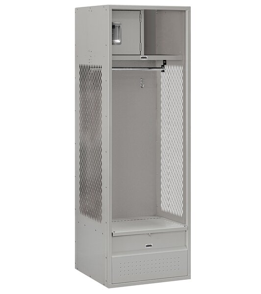 2 Tier 1 Wide Gym Locker By Salsbury Industries.