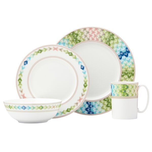 Entertain 365 Sculpture 4 Piece Place Setting, Service for 1 by Lenox