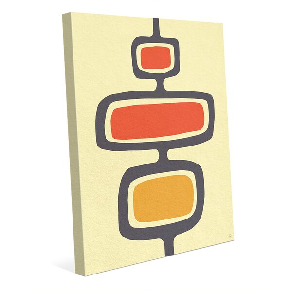 Shape Stand Orange Graphic Art on Wrapped Canvas by Click Wall Art