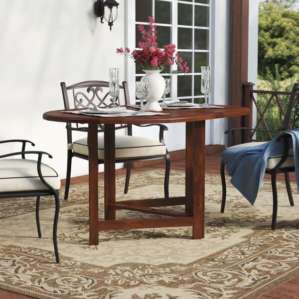 Pine Ridge Folding  Solid Wood Dining Table By Beachcrest Home