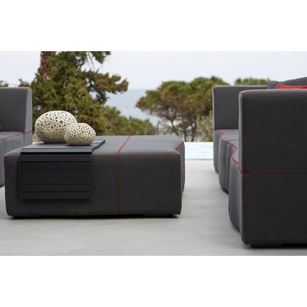 Caenas Outdoor Ottoman by Orren Ellis