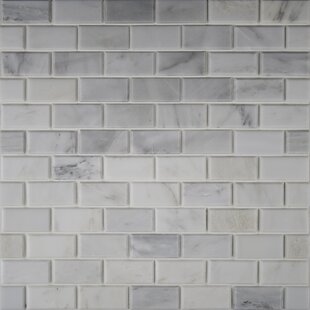 Arabeo Carrara Greecian Mounted 2 X 4 Marble Mosaic Tile In White