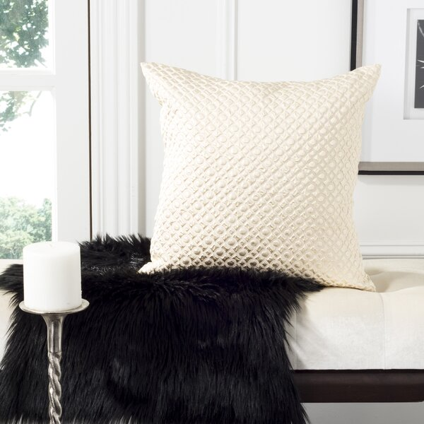 Delancy Stassie Metallic Textured Throw Pillow By House Of Hampton.