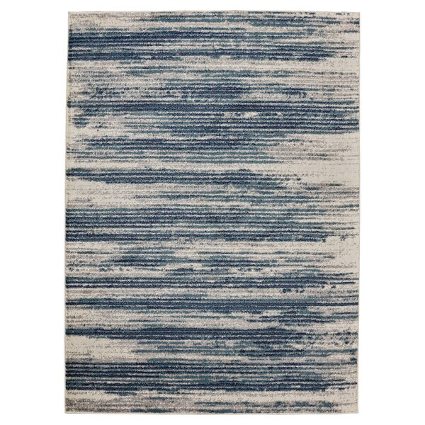 Chantal Ivory/Blue Area Rug by Williston Forge