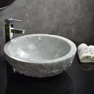 Price Check Ellie Stone Round Vessel Bathroom Sink By Y Decor