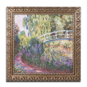 The Japanese Bridge IV by Claude Monet Framed Painting Print by Trademark Fine Art