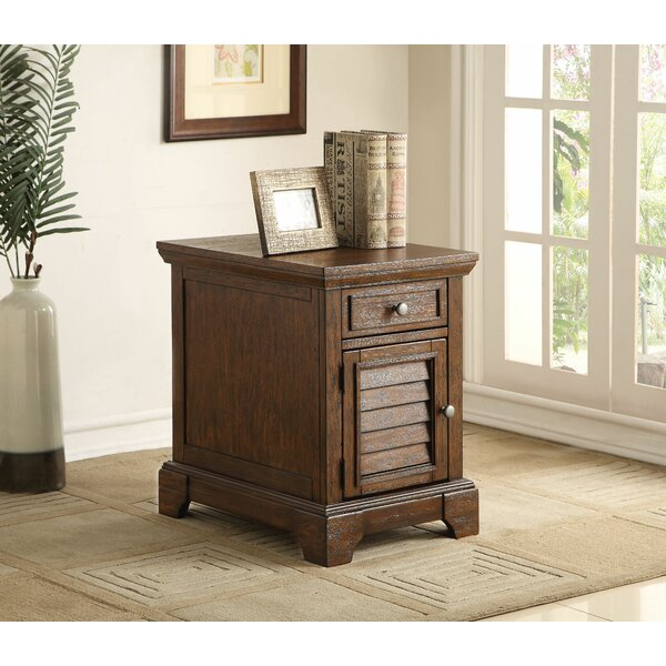 Angelica End Table with Storage by Loon Peak