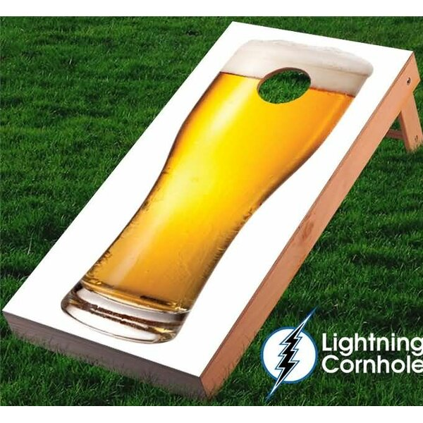 Beer Glass Cornhole Board by Lightning Cornhole