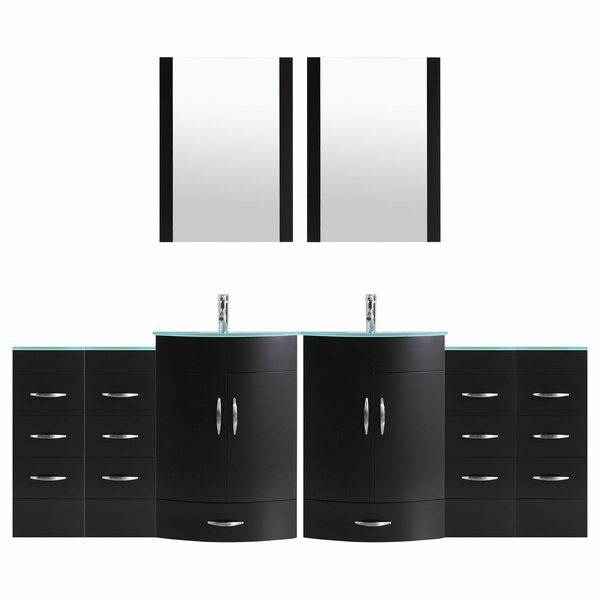 Marguez 108 Double Bathroom Vanity Set with Mirror