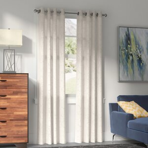 Balsamo Flower Foil Blackout Thermal Grommet Curtain Panels (Set of 2)