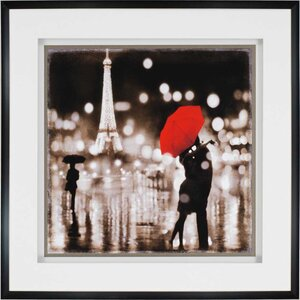 'A Paris Kiss' Graphic Art by Brayden Studio