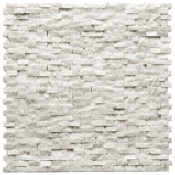 Modern 0.5 x 0.75 Splitface Tile in Beaux White by Solistone