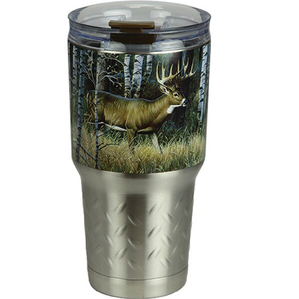 Wansley Deer 24 oz. Stainless Steel Travel Tumbler by Millwood Pines